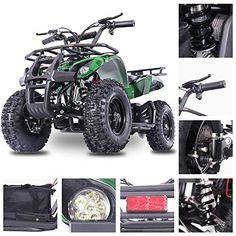 Fit Right 2020 Sonora Kids Mini Quad ATV, Dirt Motor Electric Four Wheeler Parental Speed Control, with Motor Power Reserve, Large Tires & Wide Suspension (Green CAMO) Camo Car Accessories, Four Wheelers, Program Design, Atv, Quad, Online Marketing, Cool Cars, Monster Trucks