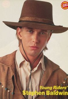 Stephen Baldwin as Buffalo Bill Cody Stephen Baldwin Young, Western Movies, Real People, Bad Boys, Movies And Tv Shows, Movie Tv, Pop Culture, Tv Series, Pin Up