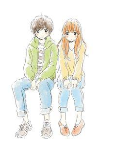 Itunohika couple digitalart/draws pequenos desenhos, manga и Kawaii Drawings, Cartoon Drawings, Cute Drawings, Anime Gifs, Anime Art, Kawaii Cute, Kawaii Anime, Film Manga, Character Art