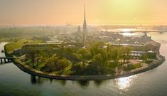 Saint Petersburg.The Peter and Paul Fortress (Russian: Петропа́вловская кре́пость)on small Hare Island in the Neva River.