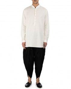 Black Silk Dhoti Pants by Tarun Tahiliani