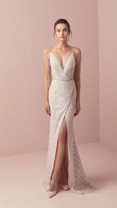 Tali & Marianna 2018 Wedding Dresses – The One Bridal Collection dress # … dress The post Romantic wedding dress idea – deep wedding dress with V back, lace details and appeared first on Woman Casual - Wedding Gown Dream Wedding Dresses, Bridal Dresses, Bridesmaid Dresses, Prom Dresses, Formal Dresses, Wedding Dress Sheath, Lazaro Wedding Dress, Embelished Wedding Dress, Bridesmaids