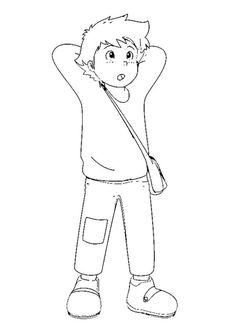 Cartoon Drawings, Easy Drawings, Heidi Und Peter, Heidi Cartoon, Coloring Books, Coloring Pages, Old Anime, Dip Pen, Old Cartoons