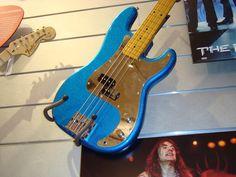 Fender turquoise bass.