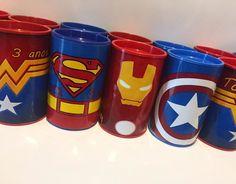 Superhero Birthday Party, 4th Birthday, Birthday Parties, Iron Man Party, Captain America Birthday, Superman Baby, Savings Jar, Hero Girl, Birthday Decorations