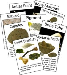 Display cards--ancient painting tools