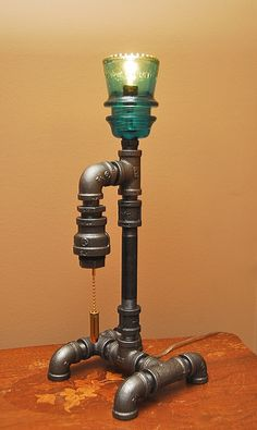 44 Magnum Industrial Style Pipe Lamp via Etsy