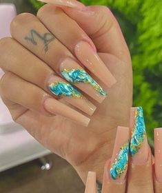 Summer Acrylic Nails, Best Acrylic Nails, Acrylic Nail Designs, Hot Nails, Swag Nails, Aycrlic Nails, Stylish Nails, Trendy Nails, Fire Nails
