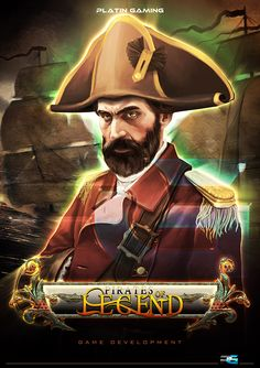 Pirates of Legend™ a video game from PlatinGaming. Pirate Games, Slot Machine, Software Development, Online Casino, Pirates, Gaming, Movies, Movie Posters, Art
