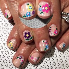"""Gena del Portillo! on Instagram: """"The ladies are loving this #Spring #floral mani inspired by @nekonail! Book appointments at vanityprojectsmia.com/appointment"""""""