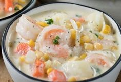 All about special food recipes and cooking Dreamsicle Salad Recipe, Fudge Recipes, Dessert Recipes, Seafood Soup, Shrimp Stew, Chowder Recipes, Chowder Soup, Corn Chowder, Peeling Potatoes