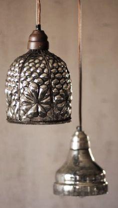 ~ vintage zinc pendant lights