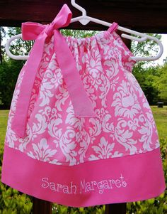 Pillowcase Dress in Pink and White. $19.95, via Etsy.