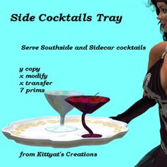 Side Cocktails Tray