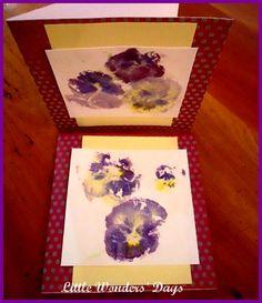 hammered flower print cards
