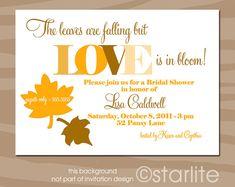 Fall Theme, Autumn Theme, Bridal Shower Invitation - Fall Colors - Leaves - PRINTABLE INVITATION DESIGN via Etsy