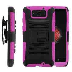 MINITURTLE, Rugged Hybrid Dual Layer Armor Phone Case Cover with Built in Kickstand, Swiveling Holster Belt Clip, and Clear Screen Protector Film for Android Smartphone Motorola Droid Ultra XT1080 and Motorola Droid Maxx XT1080M /Verizon (Black / Pink) MINITURTLE http://www.amazon.com/dp/B00GU24274/ref=cm_sw_r_pi_dp_GS6Wub07YMNKZ