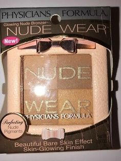 NEW Physicians Formula Nude Wear Glowing Nude Bronzer Light Bronzer #6236 | eBay Nude Makeup, Physicians Formula, Summer Skin, Bronzer, Drugstore Makeup, Glow, Drug Store, Sun Kissed, Dupes