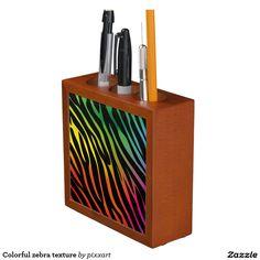 Colorful zebra texture Pencil/Pen holder