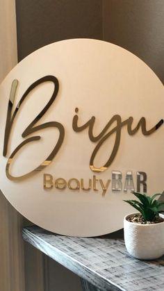 Nail Salon Design, Nail Salon Decor, Salon Interior Design, Beauty Salon Logo, Beauty Salon Decor, Beauty Bar, Wax Studio, Esthetician Room, Salon Signs