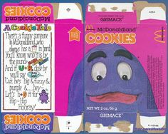 McDonaldland Cookies - Grimace - 1981 by Waffle Whiffer, via Flickr