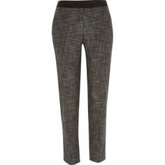 Grey tweed cigarette pants #riverisland