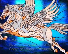 1000 Images About Stain Glass Pegasus Amp Unicorns On