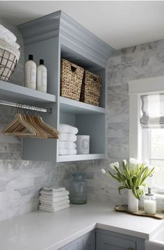 7 Small Laundry Room Design Ideas - Des Home Design Mudroom Laundry Room, Laundry Room Remodel, Farmhouse Laundry Room, Laundry Room Organization, Laundry In Bathroom, Laundry Decor, Laundry Area, Small Laundry Rooms, Laundry Storage