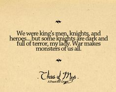 Thoros of Myr quote | Game of Thrones
