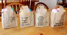 Quick and Easy Paper Easter Bags!
