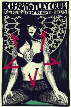 Kiss - Motley Crue ☮~ღ~*~*✿⊱╮Hippie Style, Free Spirit, Boho, - レ o √ 乇 !! ✿⊱╮❥☮ concert poster