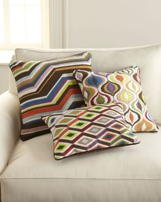 "Jonathan Adler ""Bargello"" Pillows - Horchow"