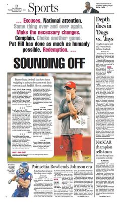 Sports cover for The Fresno Bee.    www.jonalynnmcfadden.com