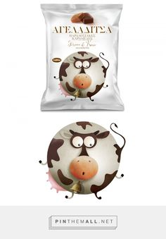 by mousegraphics Athens, Greece curated by Packaging Diva PD. New packaging for Lavadas milk toffee candies an old Greek classic. For the packaging smile file : ) Milk Toffee, Toffee Candy, Packaging Snack, Candy Packaging, Cow Logo, Athens Greece, Package Design, Creative Design, Illustrator