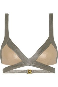Agent Provocateur Mazzy Metals triangle bikini top | THE OUTNET £44 Original price £110 60% off