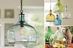 objetos feitos com garrafas de vidro cortadas - Pesquisa Google