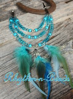 Feathers n' Flair Rhythm Beads, Mane,Tail, Bridle and Saddle Bling for horses, by rhythm-n-beads.com
