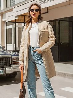 #Fall2021collection #Falloutfits #Fallcollection #FallWear #Autumnwear #fashionintrend #womenfashion #Expressyourself #autumncollection #auntumndress $111.00 $59.38 Fall Fashion Trends, Latest Fashion Trends, Fashion Styles, Fashion Wear, Fashion Outfits, Color Khaki, Khaki Style, Girls Party Dress, Types Of Sleeves