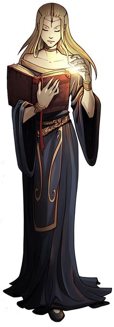 Anime Drawing Design Art by kibbitzer - Light mages make exceptional scholars, illuminating the words of the past - High Fantasy, Fantasy Women, Fantasy Rpg, Medieval Fantasy, Female Character Design, Character Design Inspiration, Character Concept, Character Art, Character Ideas