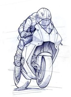 Motorcycle drawing artworks Ideas for - Motorcyles - Motorrad Design Reference, Pose Reference, Helmet Drawing, Motorbike Drawing, Bike Sketch, Motorcycle Art, Car Drawings, Tattoo Studio, Drawing Tips