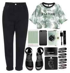 """""""hurricane // halsey"""" by exhalezarry ❤ liked on Polyvore featuring Topshop, H&M, Koh Gen Do, Clips and The Body Shop"""
