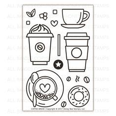 Ellen Hutson LLC - Honey Bee Clear Stamps, Coffee Break, $15.00 (https://www.ellenhutson.com/honey-bee-clear-stamps-coffee-break/)