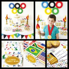 olympic themed birthday party  | Olympic Games Party Theme Inspiration