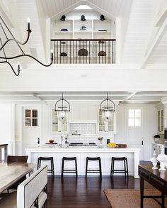 White kitchen accented with black