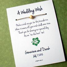 Hawaii Island  A Wedding Wish  Wish Bracelet Wedding by madebydina, $1.75
