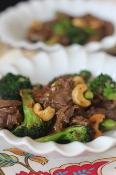 PaleOMG Beef and Broccoli Stir Fry   with  coconut aminos, orange juice (I'd sub a bit of lemon juice), honey, fish sauce, garlic, ginger, red pepper flakes, arrowroot powder,