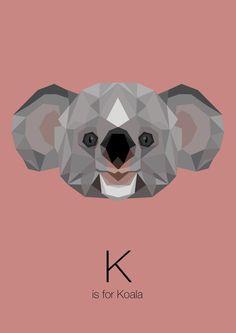 https://www.behance.net/gallery/Animal-Alphabet/12169985 k is for koala