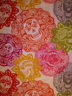 Papel picado fabric...I LOVE these colors!
