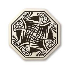- Celtic Raven Octagon Shaped Porcelain Pendant - Protection, Abundance, Prosperity. - Handcrafted Porcelain Pottery. - Designed in Scotland, Canada, and the USA. Made in the USA. - Descriptive card i