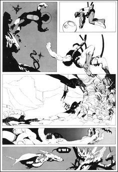 Jeff Jones: Alien (Abyss, november - Da: The Studio Section Four Comic Book Layout, Comic Book Pages, Comic Book Artists, Comic Artist, Comic Books Art, Bd Comics, Manga Comics, Storyboard, Jeff Jones